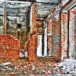 Destroyed and burned the interior of the old house — Stock Photo #20270213
