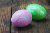 Decorated with glitter easter egg — Stock Photo