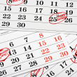 Royalty-Free Stock Photo: Calendar of important dates