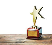 Star award with space for text on white — Stock Photo