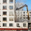 Demolition of dilapidated and old apartment building — Stock Photo #21805247