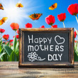 Congratulations on Mother's Day - Stok fotoğraf