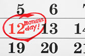 Calendar with the date marked Mother's Day — Stock Photo