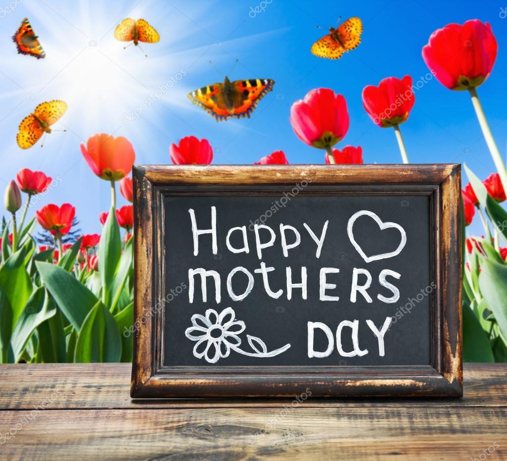Congratulations on Mothers Day — Stock Photo © doroshin ...