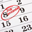 Royalty-Free Stock Photo: Calendar with a marked date marker job interview
