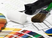 Ferramentas e materiais para reparar — Fotografia Stock