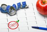 Start date the calendar diet — Stock Photo