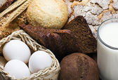 Assortment of freshly baked bread — Stock Photo