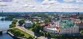 View from the Tower of Olaf the old town of Vyborg — Stock Photo