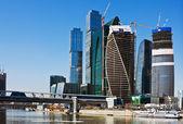 Città di mosca di moderni grattacieli — Foto Stock