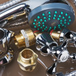 Stock Photo: Bathroom fixtures and fittings