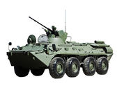 Russian BTR-80 armored personnel carrier — Stock Photo