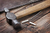 Old tools for repairing lie — Stock Photo