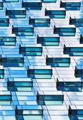 Modern mirrored building facade — Stock Photo