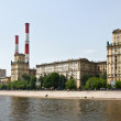 Stock Photo: Old houses Stalinist buildings Berezhkovskaya in Moscow