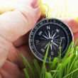 Compass in hand — Foto Stock