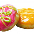 Glazed donuts with filling — Stock Photo