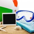 Beach items isolated  — Stock Photo