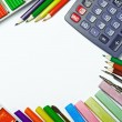 School supplies isolated — Stock Photo