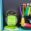 Sticker on the blackboard back to school — Foto de Stock