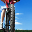 Mountain Bike and blue sky background — Stock Photo