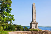 The obelisk in the park brothers Broglio Mon Repos, Vyborg, Russ — Stock Photo