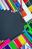 School supplies to the school board — Stock Photo