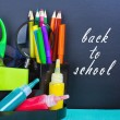 Back to school and supplies for school — Stock Photo #29277725