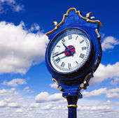 Old retro street clock — Stock Photo
