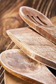 Utensilios de cocina de madera — Foto de Stock