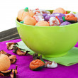 Sweets and candies for the holiday Halloween — Stock Photo