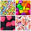 Sweets and candies background  — Stock Photo