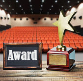 Star award for service to the background of the auditorium — Stock Photo