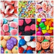 Collage of various candies and sweets — Stock Photo #31911259