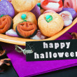 Stock Photo: Fruit jelly candies for holiday Halloween