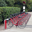Stock Photo: Urbbike rental station