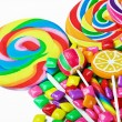 Multi-colored sweets and chewing gum   — Foto Stock