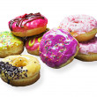 Stock Photo: Glazed donuts with filling
