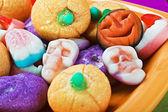 Suflê de chocolate e abóbora de umas férias halloween — Foto Stock