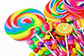 Multi-colored sweets and chewing gum — Stock Photo
