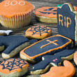 Handmade Halloween cookies — Stock Photo