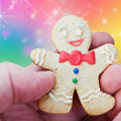 Smiling gingerbread man — Stockfoto #34138869