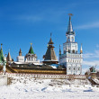 Towers and domes of the Izmailovo Kremlin in Moscow — Stock Photo