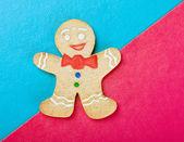Christmas smiling gingerbread man — Stock Photo