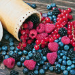 Berries are scattered on the table — Stock Photo