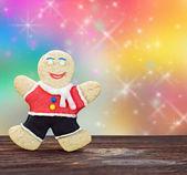 Smiling gingerbread men — Stock Photo