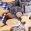 Christmas gingerbread cookies — Stock Photo