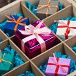 Wooden box with gifts  — Stock Photo