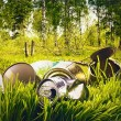 Forest contaminated waste and garbage — Stock Photo #35952335