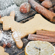 Christmas gingerbread cookies — 图库照片